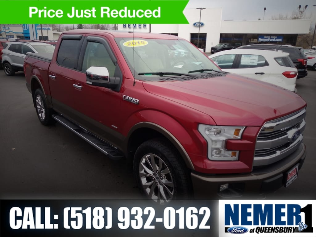 2015 Ford F 150 Regular Cab >> Pre Owned 2015 Ford F 150 Crew Cab Pickup In Latham 2406a Nemer